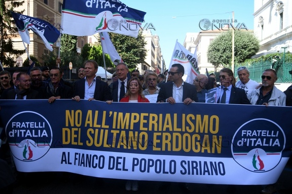 Fd'I, No all'imperialismo del sutano Erdogan
