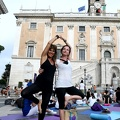 Yoga in piazza